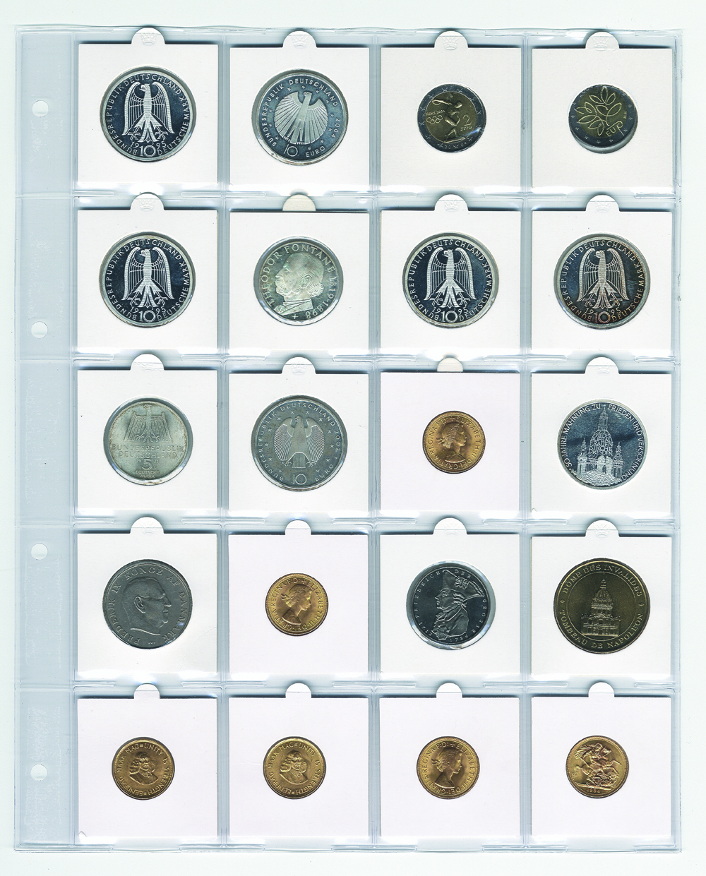 Pages for Compact A4 Coin Albums