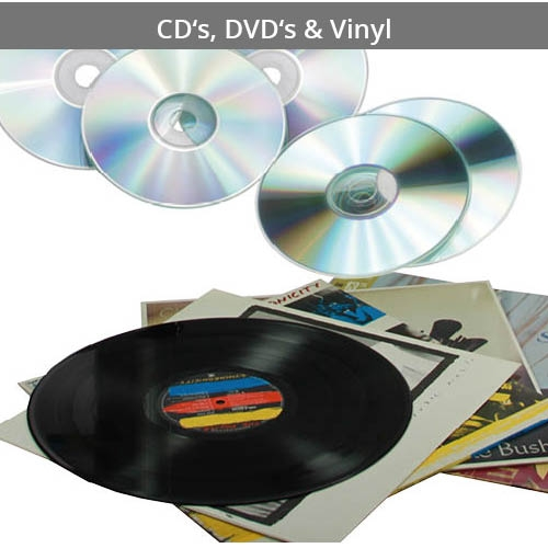 For CDs, DVDs and Vinyl Records