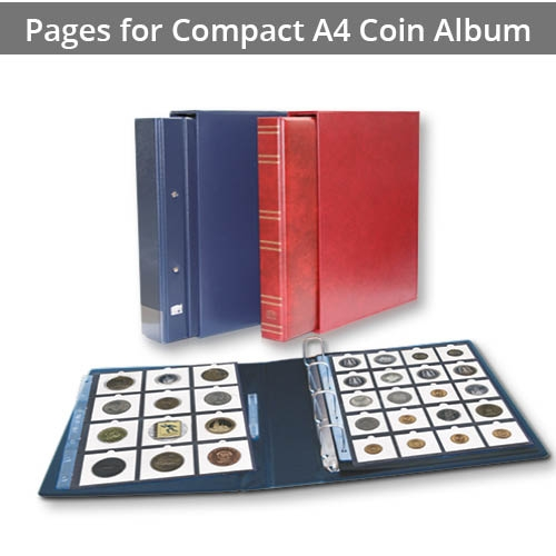 Pages for Compact A4 Coin Album