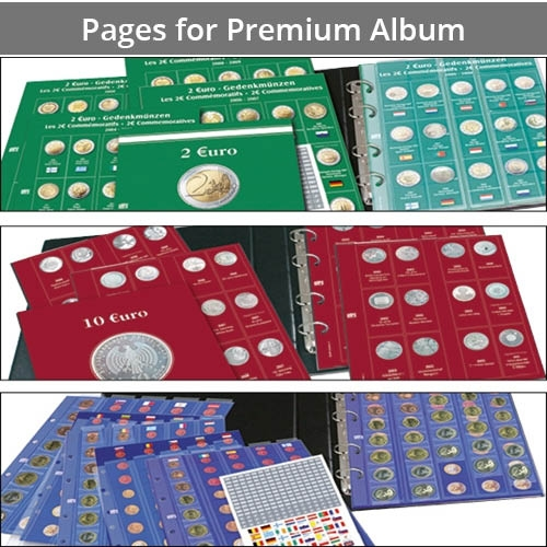 Additional Pages for Premium Coin Album
