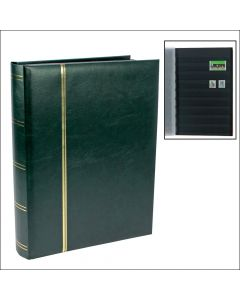 Stockbook with 64 black pages Green