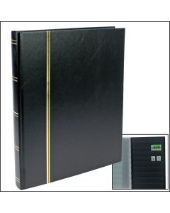 Stock Book - With 32 Black Pages Black