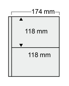Additional sheets No. 7874 for postcards in large format