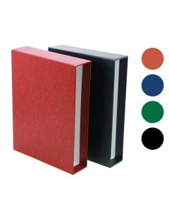 Stockbook Slipcase, Handcrafted, for Stockbook with 64 Pages - Wine Red