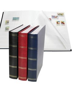 Stockbook with 64 White Pages with Central Divider
