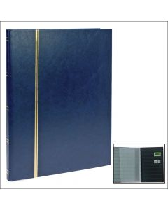 Stock Book - With 16 Black Pages Blue Cover