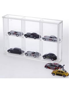 Small display case in acrylic glass - 6 compartments