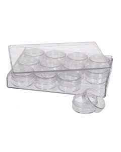 Acrylic Box with 12 Round Containers
