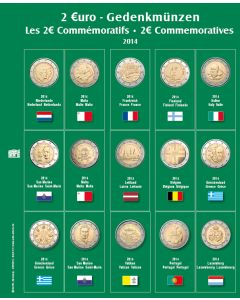 "Page for ""2 Euro"" Commemorative Coins (for 2014) No. 7341-12"