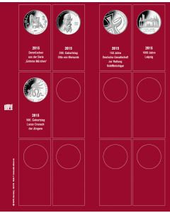 "Page for ""10 Euro"" Commemorative Coins (for 2015) No. 7342-7"