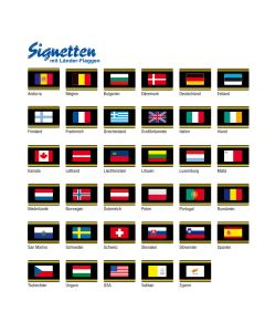 Signetten with Country Flags