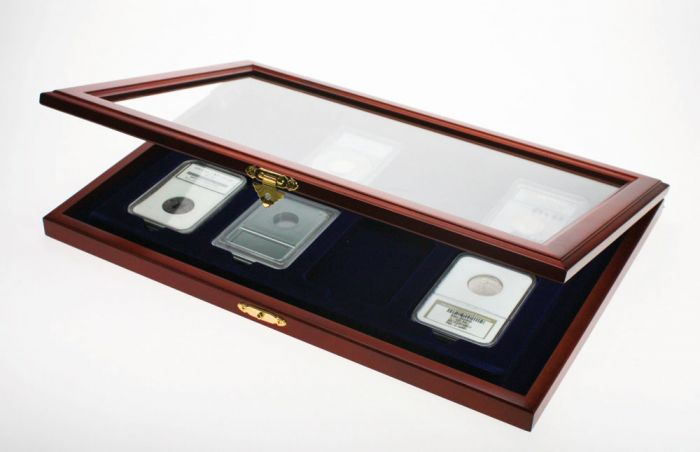 Wooden Coin Case for Slabs